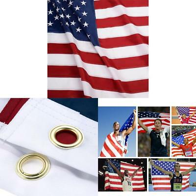 3x5 ft US American Flag Heavy Duty Printed Stars Stripes Grommets Nylon