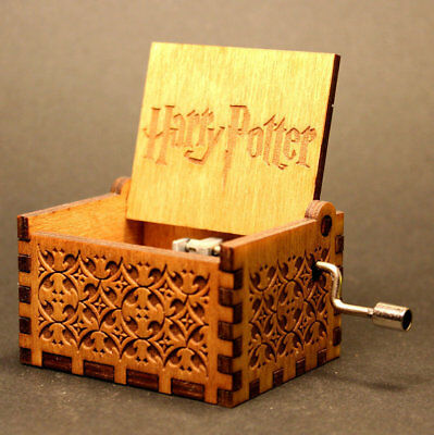 Harry Potter Music Box Engraved Wooden Music Box Interesting Kids Toy Xmas Gifts
