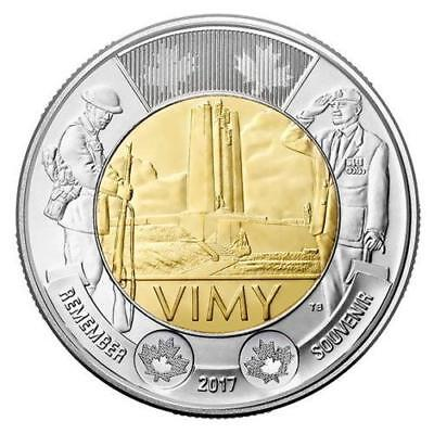 CANADA 2017 Vimy Ridge TOONIE UNC Uncirculated $2 TWO DOLLAR from Roll