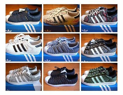 New with Box Adidas Superstar shoes/sneakers, Primeknit, Snakeskin,  Neighborhood