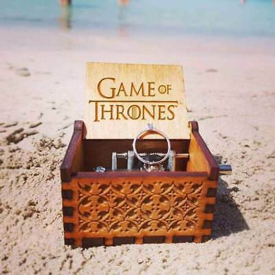Game of Thrones Engraved Wooden Music Box Toy Xmas Gifts- crafts Theme Artisanal