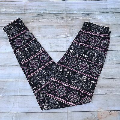 Pink Red Abstract Women/'s Leggings PS Plus Size TC 12-20 Super Soft Purple