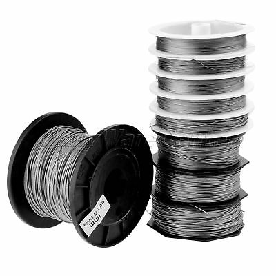 Stainless Steel Wire Fishing line Braided Soft Wire line Outdoor Sports 50M