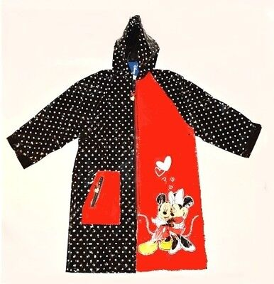 BNWT Girls Long DISNEY Minnie Mouse Cagoule Cag Rain Coat Jacket Age 8 Years A39