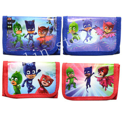 PJ MASK Boys Coin Purse Kids Trifold Zip  Wallets Cartoon Birthday Party Gift