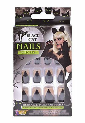 Forum Novelties 78364 Black Cat nail, taglia unica (w5i)