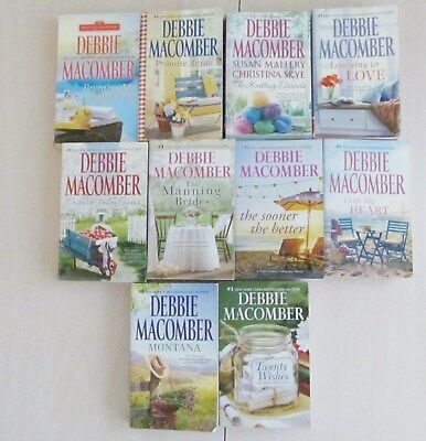 Lot Of 10 Debbie Macomber Paperbacks Montana  Promise Texas  Knitting Diaries