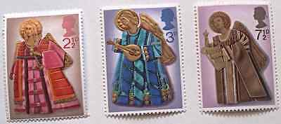 Royal Mail Christmas stamps, Oct 1972, Angels playing instruments, harp, GB, MNH