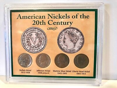 American Nickels of the 20th Century Coin Set in Sealed Case Wartime Silver