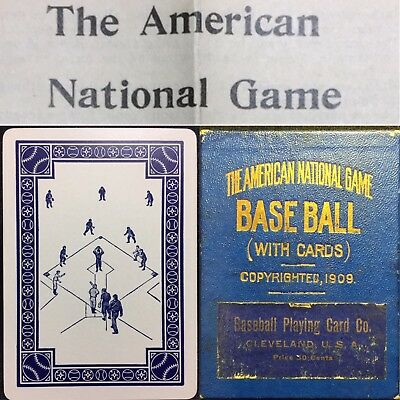 1909 High Grade Wagner Cobb Era Antique Baseball Playing Cards Boxed Parlor Game