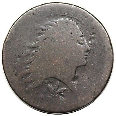1793 Wreath Cent, Vine & Bars Edge, S-8, R.3, AG