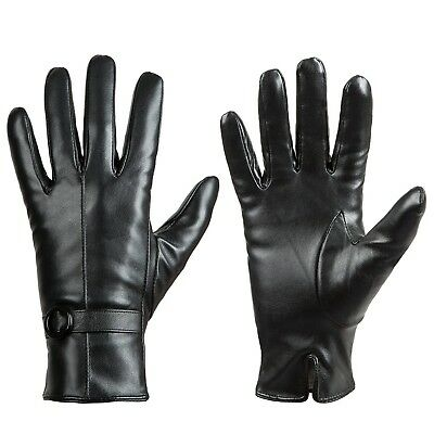 Womens Winter Leather Touchscreen Texting Warm Driving Lambskin Gloves 100% P...