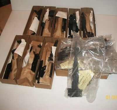 vintage thumb latches complete NOS strap hinges lot door colonial hardware acorn