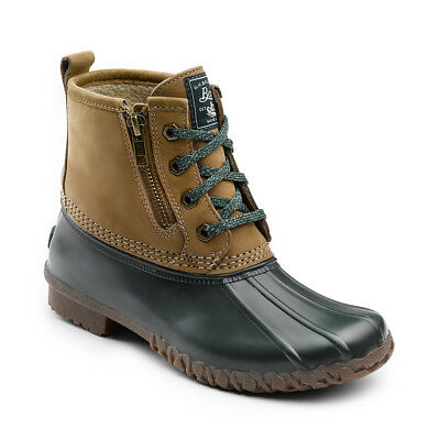 G.H. Bass & Co. Women's Danielle Leather Waterproof Duck Boot Tan/Hunter Green