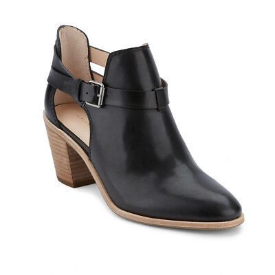 G.H. Bass & Co. Women's Sylvia Genuine Leather Buckle Ankle Bootie Black