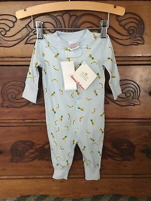 New Size 0-6 Mos 50 Baby Boy Hanna Andersson Organic Cotton Pajamas Zip Up