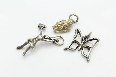 Lot of Three Vintage Charms in Sterling Silver