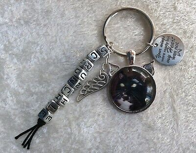 Cat loss / memorial personalised keyring