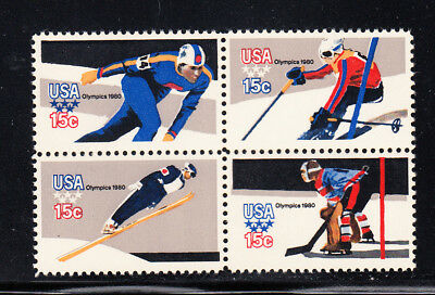 US Scott #1795-98 Lake Placid Olympics Block of 4,  MNH