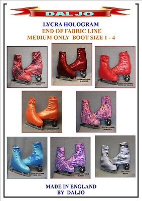 Ice Skating / Roller Skating  Lycra Hologram Boot Covers Medium Only