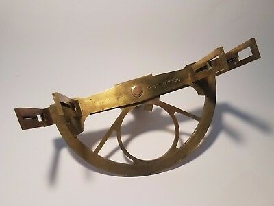 French brass graphometer, circa 1850