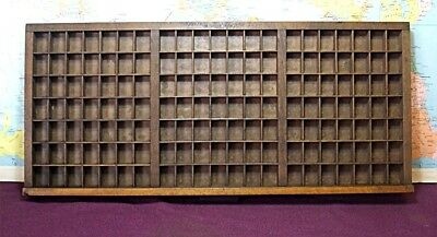 Antique Wooden Type Case With Unusual Layout (Cleaned & Stained)