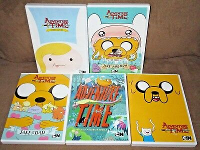 CN Cartoon Network Adventure Time DVD Lot of 5 all in VGUC Lightly Viewed