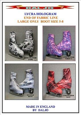 Ice Skating / Roller Skating  Lycra Hologram Boot Covers Large Only