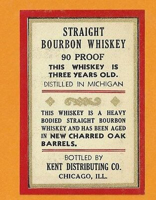 20 Vintage Straight Bourbon Whiskey Labels -Nice