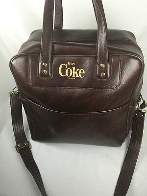 Vintage ENJOY COKE Tote Bag Coca Cola Olympic Committee 1980 vinyl