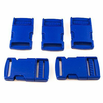 Blue Buckle Plastic Clip For Craft Webbing Paracord Bag Strap 25mm Side Release