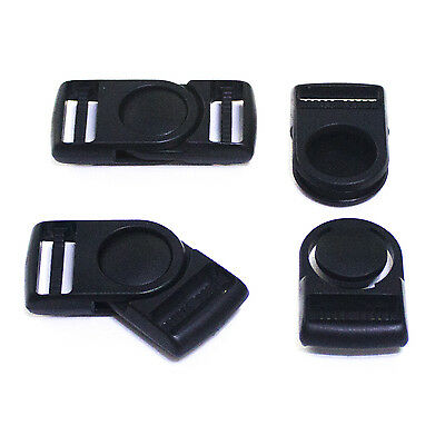 Plastic Rotary 90 ° Black Buckle Clip For Craft Webbing Paracord Bag Strap 25mm