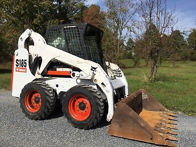 2004 Bobcat S185 Skid Steer Loader Enclosed Cab Heat And Ac Great To Plow Snow