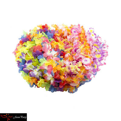 Hawaiian Leis Simulated Silk Flower Leis Party Dance Fancy Dress Garland 12 PCS