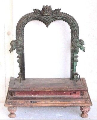 1850's Carved Vintage Antique Rare Wooden Yali Arch Z27 COLLECTIBLE EDH