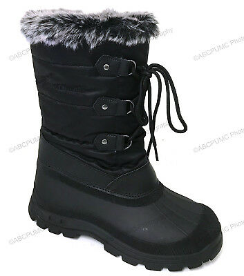 Women's Winter Boots Fur Warm Insulated Water Resistant Zip Ski Snow Shoes Sizes