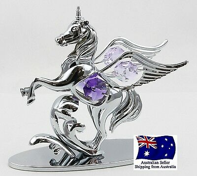 CRYSTOCRAFT Pegasus Unicorn Fantasy Ornament with SWAROVSKI crystals