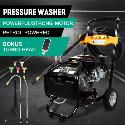 High Pressure Car Washer Cleaner 10HP 4800PSI Petrol Water 20M Hose 5 Nozzles AU