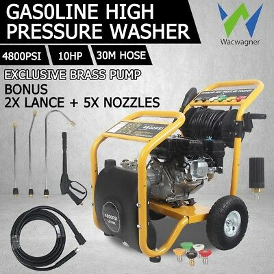 WACWAGNER 4800 PSI High Pressure Washer Cleaner 10HP Water Petrol Hose Gurney AU