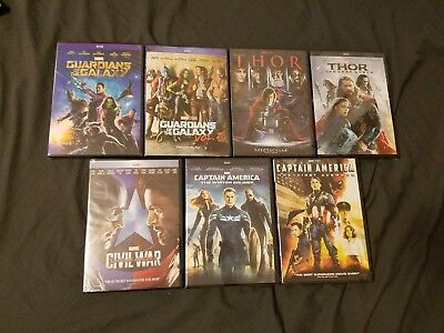 Thor + Captain America & Guardians of the Galaxy 1 - 2 DVD (Civil War) NEW