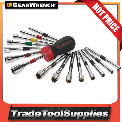 GearWrench Ratcheting Nut Driver Set 16 Piece SAE/METRIC 8916D