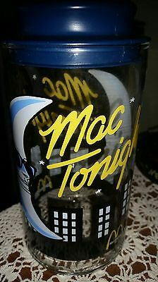 McDonald's Mac Tonight glass container / Jar with Lid