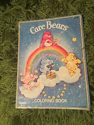 Vintage Kenner Care Bears Coloring Book American Greetings 1982