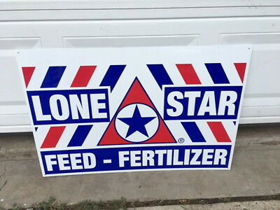 Lone Star Feed Collectible Advertising Sign Farm New Never Beer 3F X 2F Texas