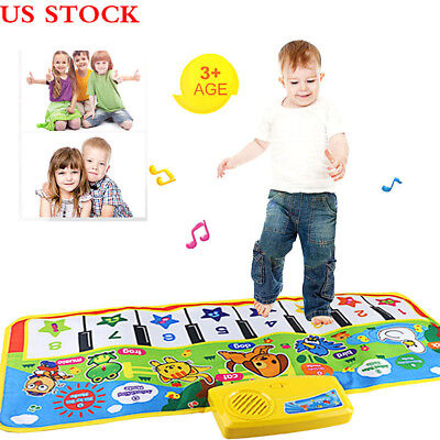 Touch Play Keyboard Musical Music Singing Gym Carpet Mat Best Kids Baby Toy Gift