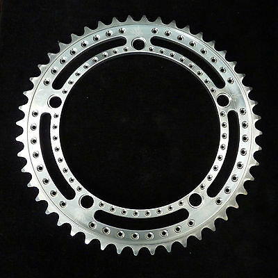ON SALE! 2014 Drillium Track Chainring, 48t, 144 bcd, Swallow, Silver Anodised