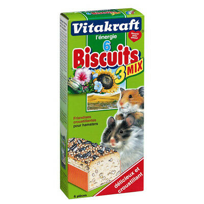 Vitakraft - Friandises Biscuits 3 Mix pour Hamsters - x6
