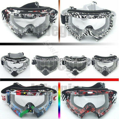 Motorcycle Motocross Quad Off Road Racing Sport Goggles Anti-Fog Dust UV Glasses