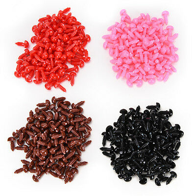 100x/Set Plastic Bear Nose Triangle Velvet Noses Buttons DIY Bear Toy Supply