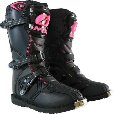 NEW Oneal 2018 Ladies Mx Rider Black Pink Cheap Dirt Bike Womens Motocross Boots